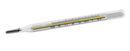 illustration of thermometer on white background illustration