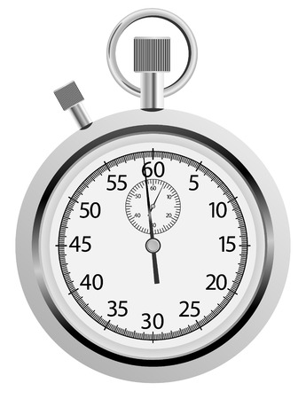vector stop watch on white background Illustration