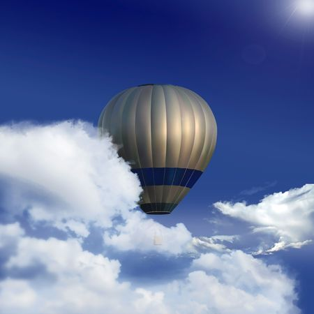 very easy to put Your logo or message on the baloon Stock Photo - 6266268