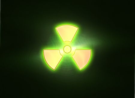 bio-hazard icon on yellow white background Stock Photo - 6266263