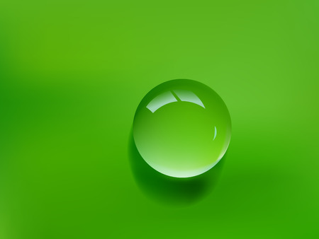 photo realistic water drop on green background Stock Vector - 6590741