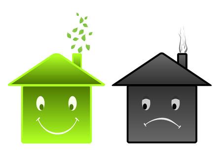 advantages: advantages of ecological building Illustration