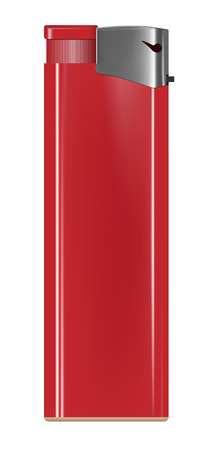butane: realistic red lighter on white background Illustration