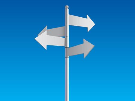 empty crossroad sign posts Stock Vector - 6978715