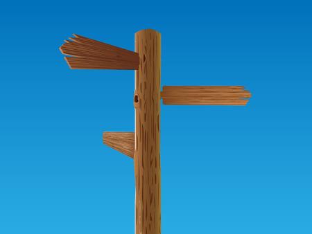 cruce de caminos:  signo de cruce de madera
