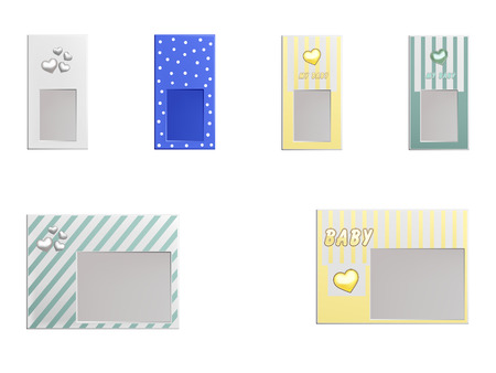set of cute photo frames for kids and babies Vector