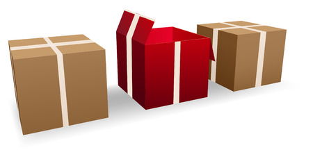 conceptual illustration of cardboard boxes Stock Vector - 7359590