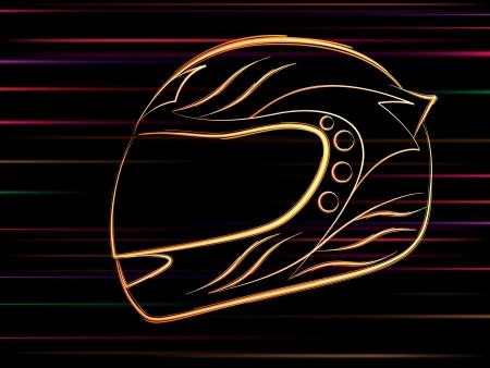 stylized motorbike helmet Stock Vector - 7402274