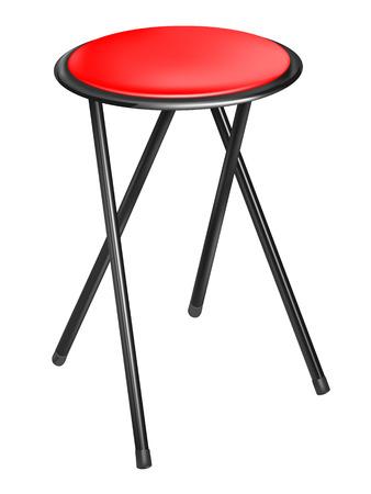 leather chair: convertibile sedia rossa su sfondo bianco