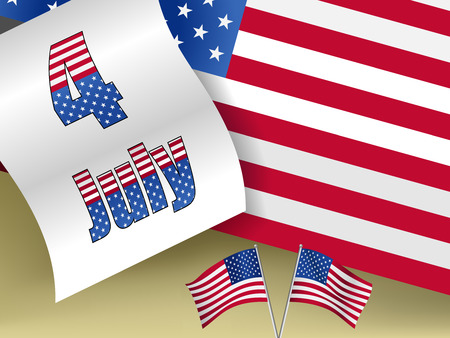declaration of independence: conceptual background illustration of 4th july Illustration