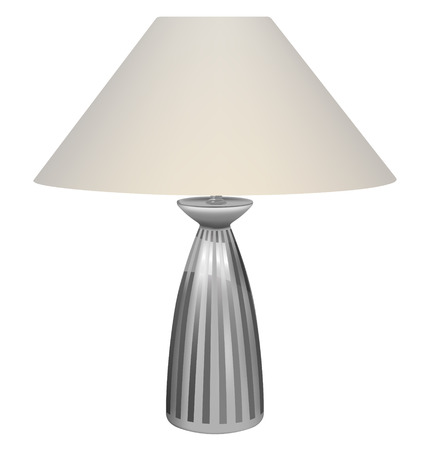 table lamp: vector table lamp on white background