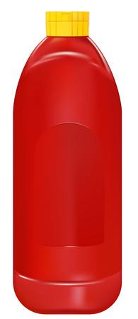 ketchup bottle: realistic ketchup bottle on white background Illustration