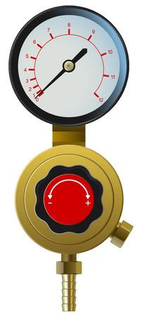 adjuster: vector realistic pressure controller on white background Illustration