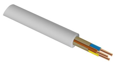 Vektor-elektrischen Draht Querschnitt Illustration