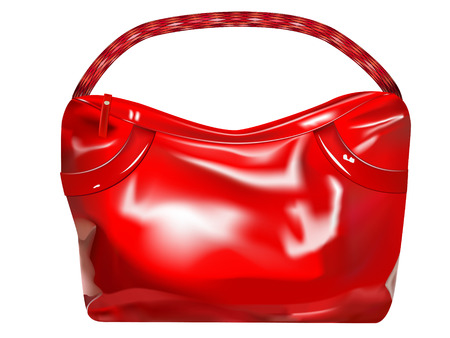 vector red lady's handbag on white background Stock Vector - 8423797