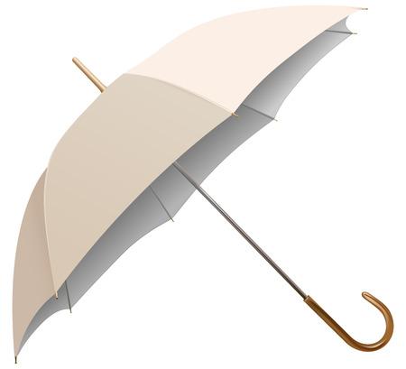 lluvia paraguas: paraguas de vector aislados sobre fondo blanco Vectores