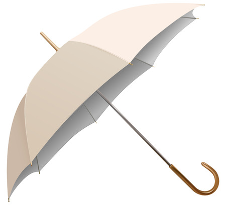 weather protection: vector umbrella isolated on white background