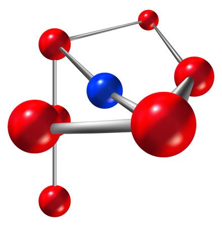estructura de la molécula abstracta sobre fondo blanco