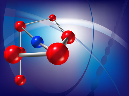 chemical material: vector abstract scientific background with molecule structure