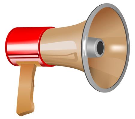 loudhailer: vector megaphone icon isolated on white background Illustration