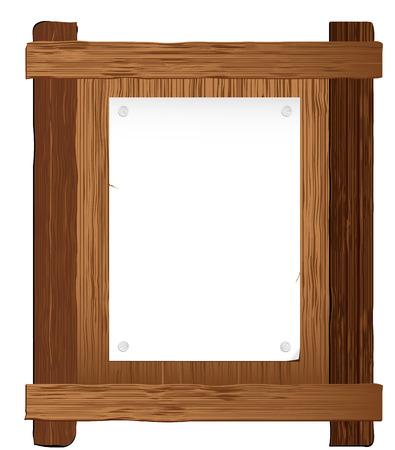 bacheca di legno con il posto per il vostro testo