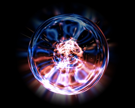 orb: abstract colorful energy ball Stock Photo
