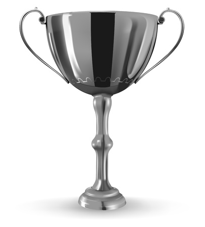 realistic winner goblet on white background Stock Vector - 9680280