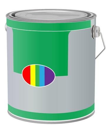 realistische Farbdose auf weißem Hintergrund Illustration