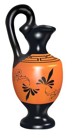 replica: realistic  replica of ancient amphora