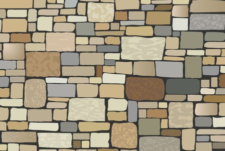 stone wall: vector illustration of stone wall with copy space