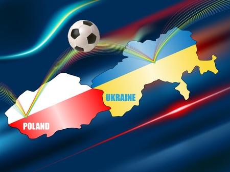 vector conceptual illustration of soccer championship Euro 2012