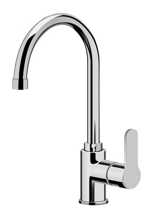 vector realistic kitchen tap on white background Illustration