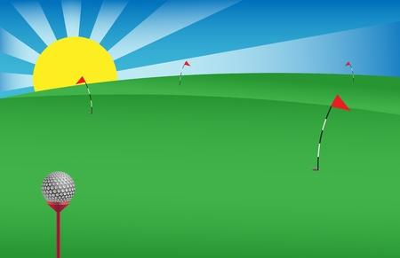 vector golf achtergrond nuttig voor banners, visitekaartjes etc.