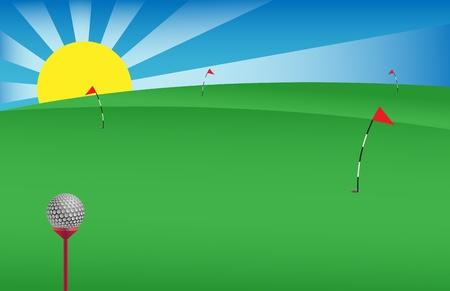vector golf background useful for banners,visit cards etc. Stock Vector - 12392204