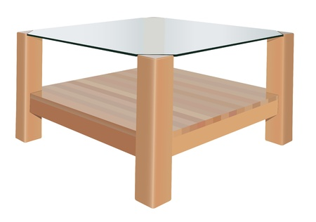 vector realistic coffee table on white background