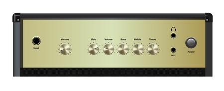 superdirecta: vector de interfaz de amplificador realistas sobre fondo blanco