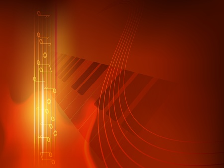 concept music background, used transparency, blending modes and gradient mesh Vector