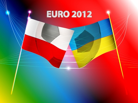 vector conceptual illustration of Euro 2012 championship Stock Photo - 12776724