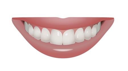 sexual health: vector beautiful smile with perfect teeth, eps10 vector, transparency and gradient mesh used