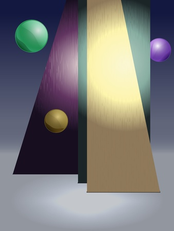 ambience: vector studio background to put your own model in, eps10, transparency and gradient mesh used Illustration