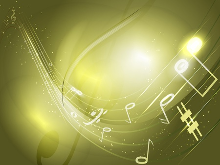music stave: abstract conceptual music background, used transparency, blending modes and gradient mesh Illustration