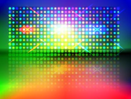 RGB-Licht Wand mit Boden-Reflexion und Transparenz Verlaufsgitterobjekten verwendet Illustration