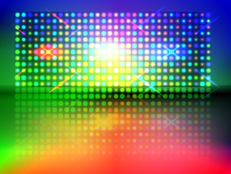 rgb light wall with floor reflection transparency and gradient mesh used Stock Vector - 12990514