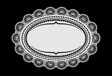 place mat: vintage doily mat with place for your text