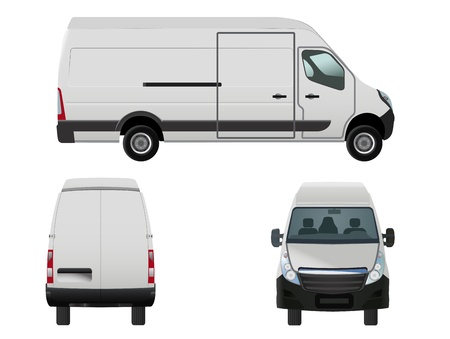 rear wheel: vector illustration of van to put your own design on, eps 8 file