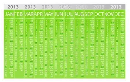 2013 eco calendar template Vector