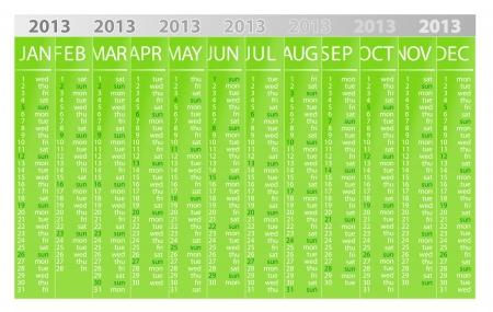 2013 eco calendar template Stock Vector - 15773579