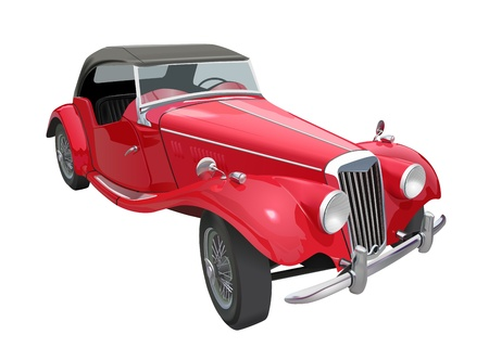 realistic detailed vintage car , gradient mesh and transparency used Vector