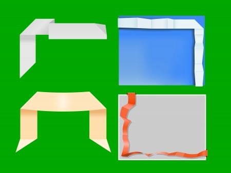four origami banners, gradient mesh used Stock Vector - 17155902