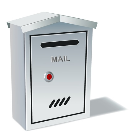 letterbox: metal mailbox on white background,gradient mesh and transparency used Illustration